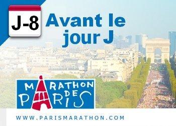 J-8 avant le marathon de Paris