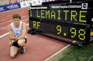 Christophe Lemaitre, premier sprinteur blanc à courir le 100m en moins de 10 secondes