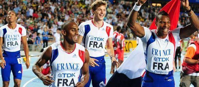 Mondiaux Daegu 2011 : médaille d'argent pour le relais 4x100