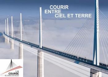 Course Eiffage du Viaduc de Millau en Aveyron