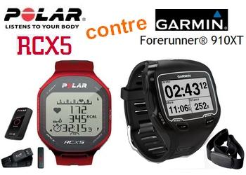 Photo de Comparatif Polar RCX5 et Garmin Forerunner 910XT, montres GPS Cardio pour le triathlon