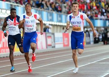 Photo de Helsinki : Lemaître conserve son titre européen sur 100 m, et doublé français grâce à Vicaut