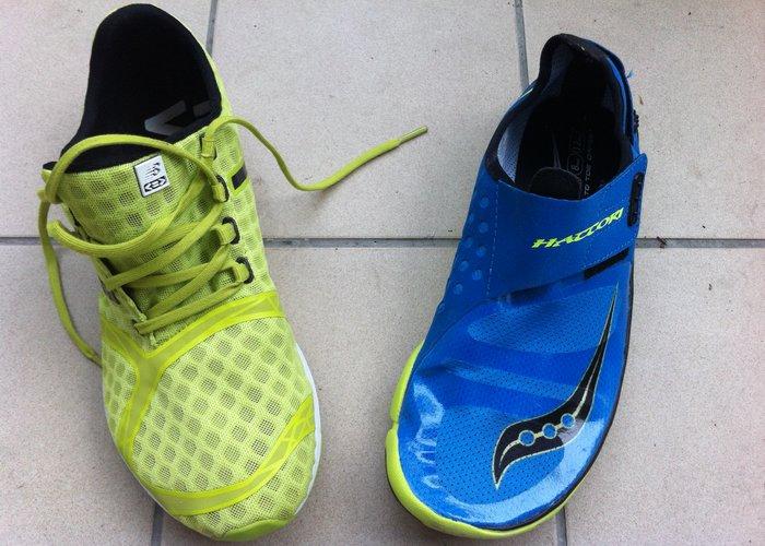 Chaussures minimalistes New Balance MR00 et Saucony Hattori