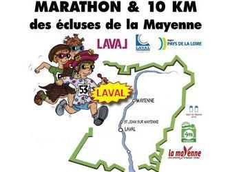 Marathon et 10km des écluses de la Mayenne, à Laval