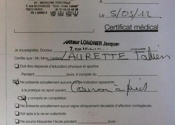 Certificat médical d'aptitude à la course à pied en compétition