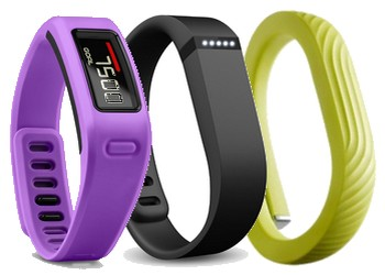 Comparatif Garmin Vivofit, Jawbone up 24, Fitbit Flex