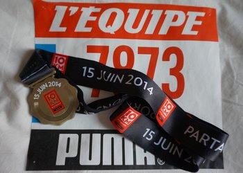 Résultats et classement des 10 km de L'Equipe 2014 à Paris