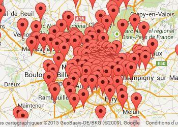 Courir en Ile de France : carte des courses à pied