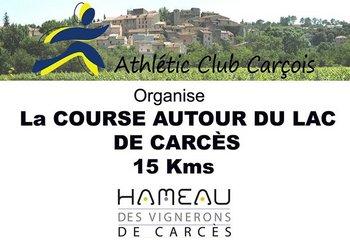 Course autour du lac de Carcès (83 - Var)
