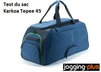Test du sac de sport Karkoa Tepee 45