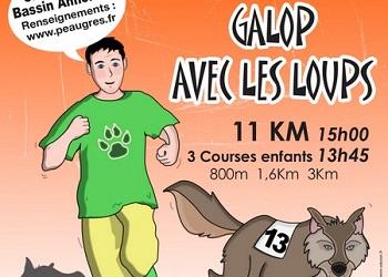 Galop avec les loups, Peaugres (Ardèche)