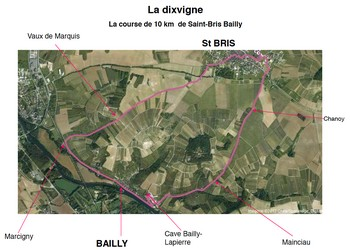 Dixvigne, course 10 km Saint-Bris Bailly (Yonne)