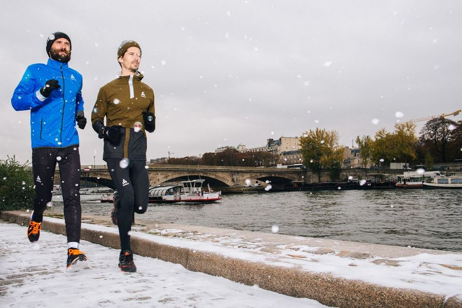 Photo de Odlo Crystal Run, le 1er 10 km au coeur de Paris et de l'hiver