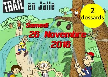 Photo de 2 dossards pour le Trail en Jalle 2016, Saint Jean d'Illac (Gironde)