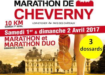 Dossards pour le marathon de Cheverny 2017