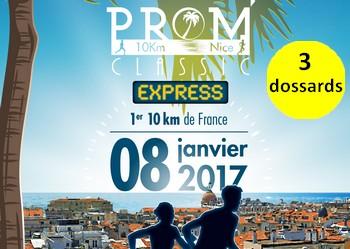 Photo de 3 dossards pour la Prom'Classic de Nice 2017 (10 km)