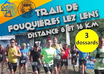 Photo de 3 dossards pour le Trail de Fouquières les Lens 2017 (Pas-de-Calais)