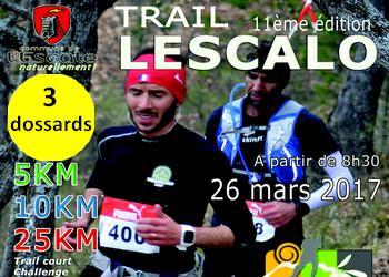 Photo de 3 dossards pour le Trail de l'Escalo 2017 (PACA)