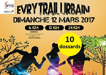 Photo de 10 dossards pour l'Evry Trail Urbain 2017