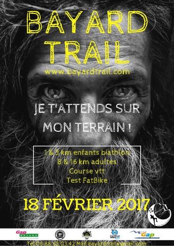 3 dossards pour le Bayard Trail 2017, nocturne, Gap (Hautes Alpes)