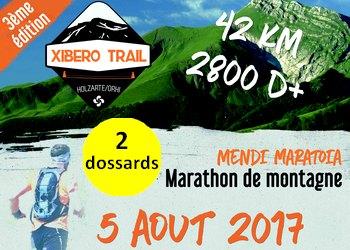 2 dossards Xibero Trail 2017, à Larrau (Pyrénées Atlantiques)
