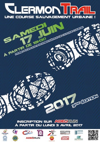 2 dossards pour le ClermonTrail 2017 (Oise)