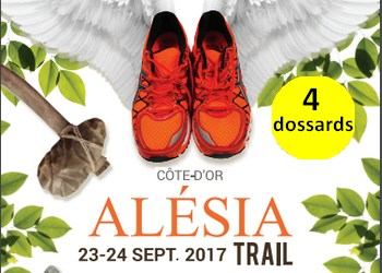 4 dossards Alesia Trail (Côte d'Or)