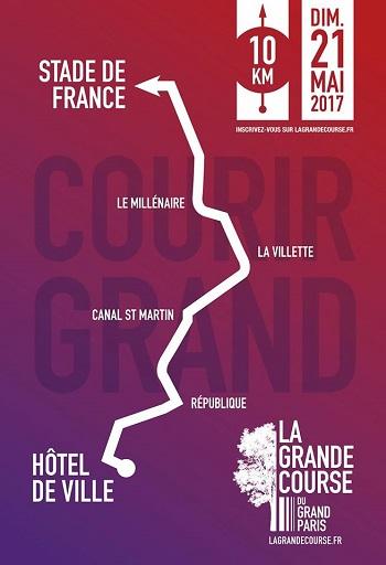 1 dossard Grande course du Grand Paris 2017 (10 km)