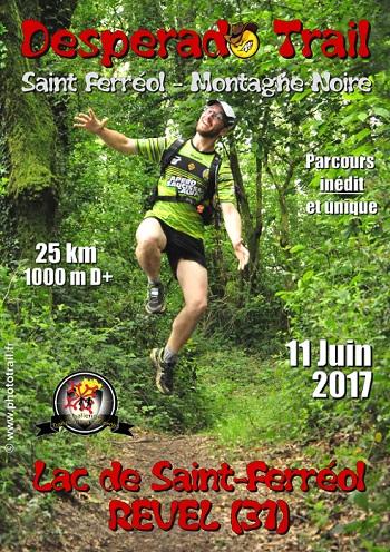 2 dossards pour le Desperado Trail 2017 (Tarn)