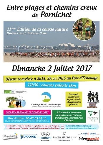 4 dossards Entre Plages et Chemins Creux 2017, Pornichet (Loire Atlantique)