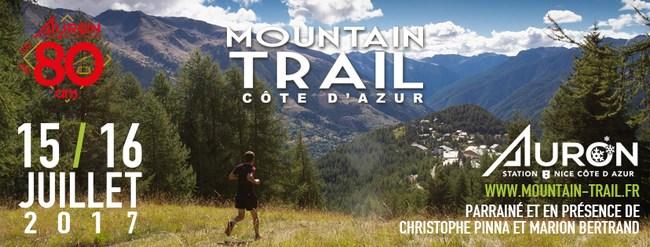 5 dossards Auron Mountain Trail Côte d'Azur 2017 (Alpes Maritimes)