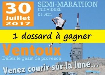 Photo de 1 dossard Semi-marathon du Ventoux 2017, (Bedoin, Vaucluse)