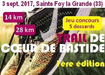 Photo de 5 dossards Trail de Cœur de Bastide 2017 (Gironde, 1ère édition)