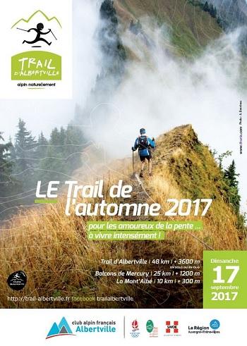 2 dossards Trail d'Albertville 2017 (Savoie)
