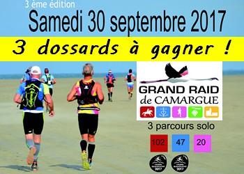 3 dossards Grand Raid de Camargue 2017