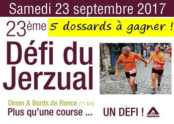 5 dossards Défi du Jerzual 2017, Dinan (Côtes d'Armor)