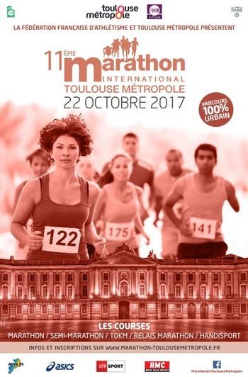 10 dossards Marathon, semi et 10 km de Toulouse 2017