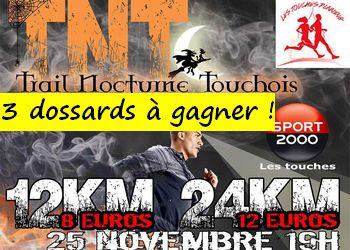 3 dossards Trail Nocturne Touchois 2017 (Loire Atlantique)