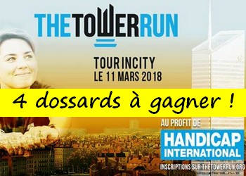 4 dossards The Tower Run Lyon 2018