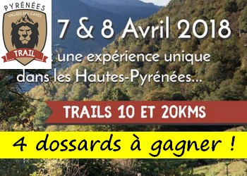 4 dossards Pyrénées Vallées des Gaves Trail 2018