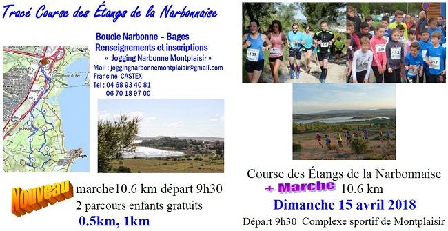 2 dossards Course des étangs de la Narbonnaise 2018 (Aude)