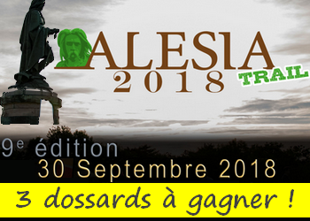 3 dossards Alesia Trail 2018 (Côte d'Or)