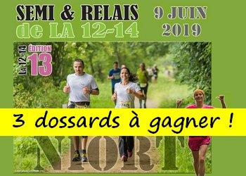 3 dossards Semi & relais de la 12-14 2019 (Deux Sèvres)
