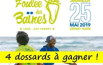 Photo de 4 dossards Foulée des Baïnes 2019 (Gironde)