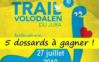5 dossards Trail Volodalen du Jura 2019 (Jura)