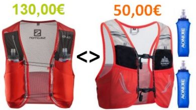Comparatif sacs de trail