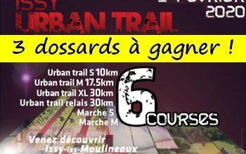 3 dossards Issy Urban Trail 2020 (Hauts de Seine)