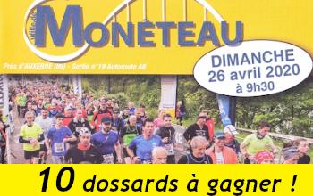 10 dossards Semi-marathon de Monéteau 2020 (Yonne)