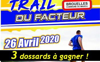 Photo de 3 dossards Trail du Facteur 2020 (Lot)