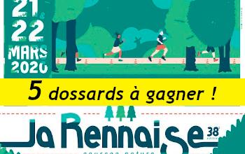 5 dossards La Rennaise 2020 (Ille et Vilaine)